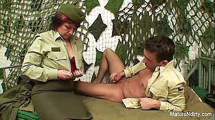 Mature D/s fucks in the office