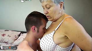 AGEDLOVE Granny Savana fucked with indeed hard stick