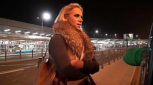 Big Titty Mummy Airport Pick up and Fuck hard in Mea Melone van