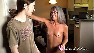 Milf Shares Panty Fetish with Youthfull Man