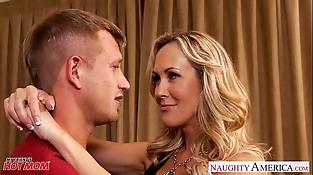 Chesty blonde mom Brandi Love suck and fuck cock