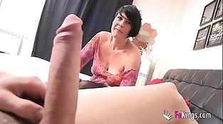 Spanish squirting mature licks Jordi'_s big cock
