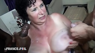 Inexperienced french granny fuck