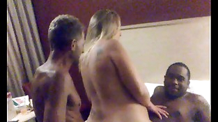 slut wifey shauna get used like a cheep whore by 2 big black cock