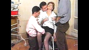 Hairy Mature Gang-bang