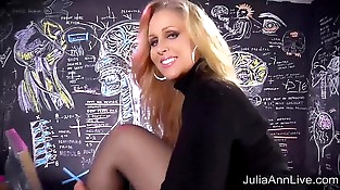 Sexy Mummy Julia Ann Sweater Strip Tease &amp_ Solo!