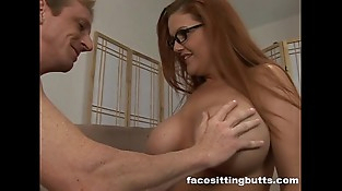 Guy fucks his new chesty redhead step mom