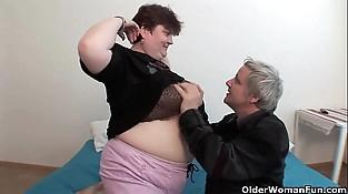 BBW grandma still enjoys grandpa'_s tiny dick