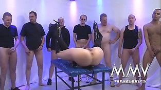 MMV FILMS Rough German Gang-bang