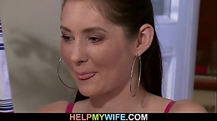 Spouse witnesses his hot wifey cuckolds