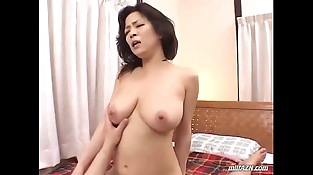 Busty Milf Sucking Youthful Guy Dick In 69 Fucked Getting Facial On The Bed