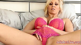 Milf Julia Ann Attempts on Underwear &amp_ Masturbates!