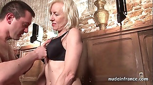 Sexy inexperienced french mature deep analized with jizz 2 mouth in a bar