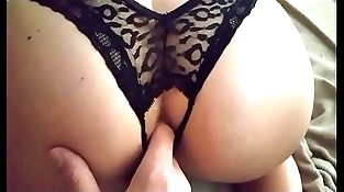 Wifey sucks cock and takes it in her ass