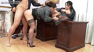 Upperclassfuckfest - Anissa Kate, Nikita Devine - If The Chief Gets Mean, Office Chicks Become Ass&amp_#0