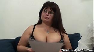 Porn casting for fat mature