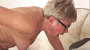 Granny Ursula Grande fucks a much junior dick