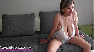 Skinny russian woman with huge breasts