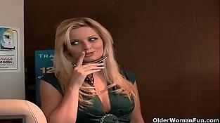 Blonde mummy Bobbi Eden gets fucked