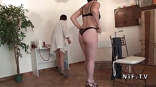 FFM Inexperienced French mature hard analyzed and plugged at the gyneco