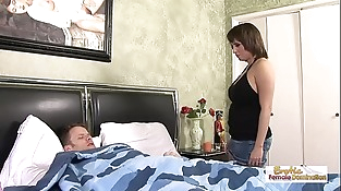Sexy Sophia gets fucked hard by her strung up husband
