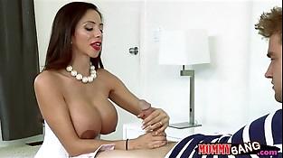 Angel Del Rey collective cock with busty stepmom Ariella Ferrera