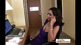 Lonely mummy orders a big black cock to her hotel room
